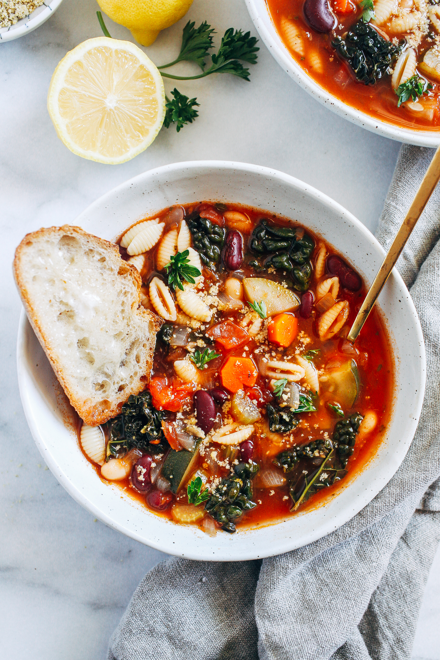 Easy Vegetable Minestrone Soup Making Thyme For Health