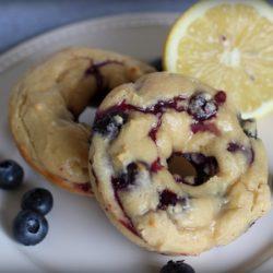 Baked Blueberry Lemon Yogurt Donuts