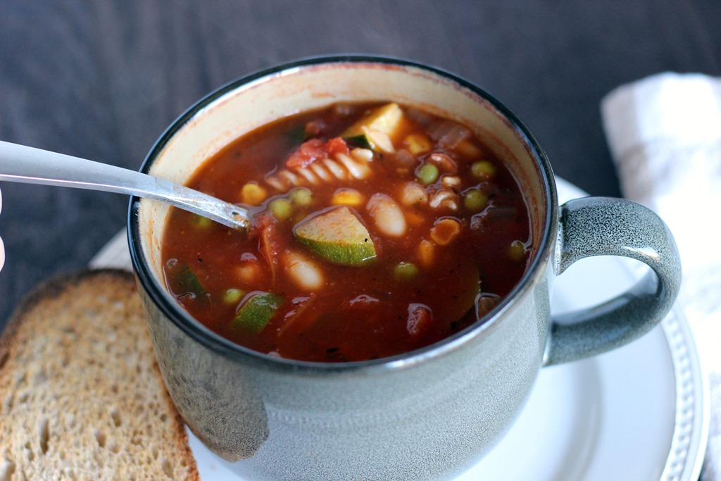 Quick and Easy Vegetable Minestrone Soup - Making Thyme for Health