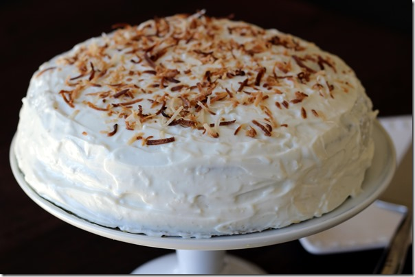 Pistachio Cake with Greek Yogurt Coconut Frosting 129