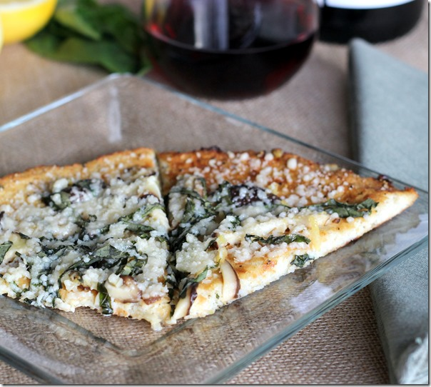 Shiitake, Basil and Lemon Cauliflower Pizza (49)