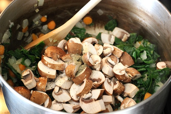 Comforting Mushroom Barley Soup- a creamy and flavorful soup made with dried mushroom broth.