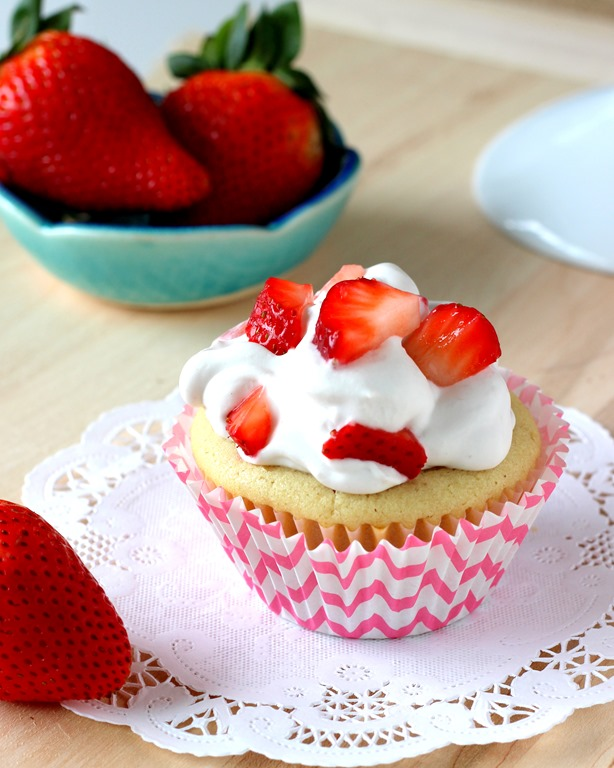 Vegan Strawberry Shortcake Cupcakes - Making Thyme for Health