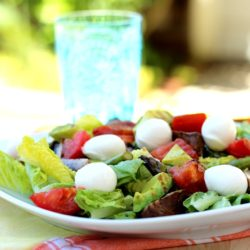 Grilled Vegetable Summer Salad with Mozzarella