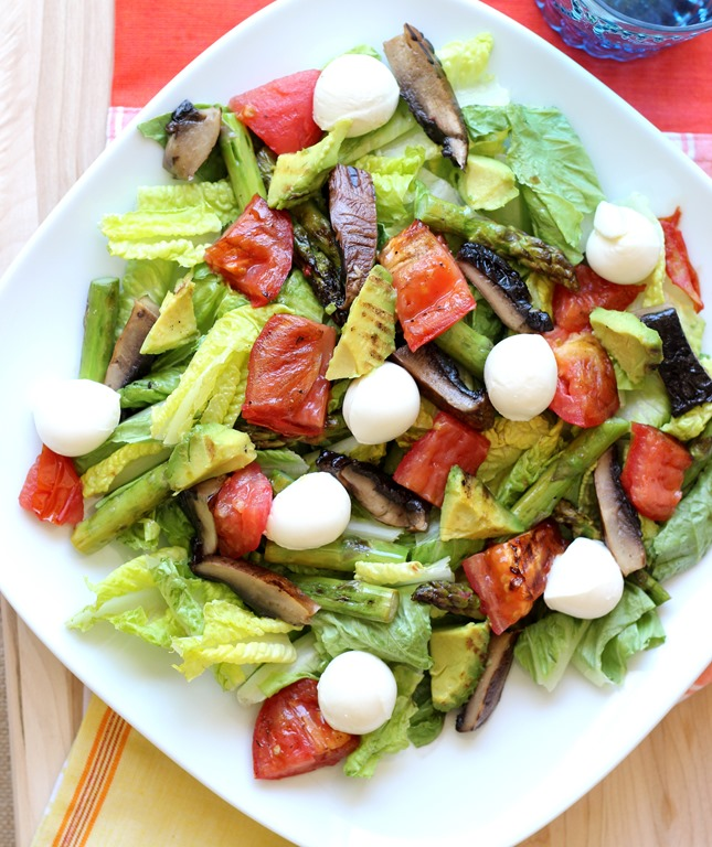 Grilled Vegetable Summer Salad with Mozzarella - Making Thyme for ...