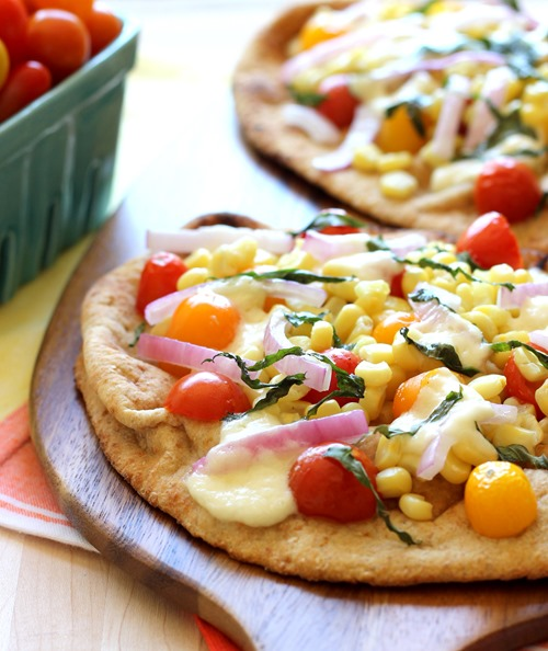 Roasted Corn & Tomato Naan Pizzas (83)