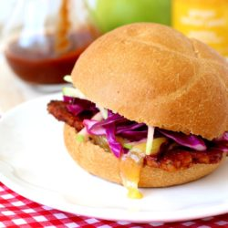 BBQ Tempeh Sandwiches with Apple Slaw