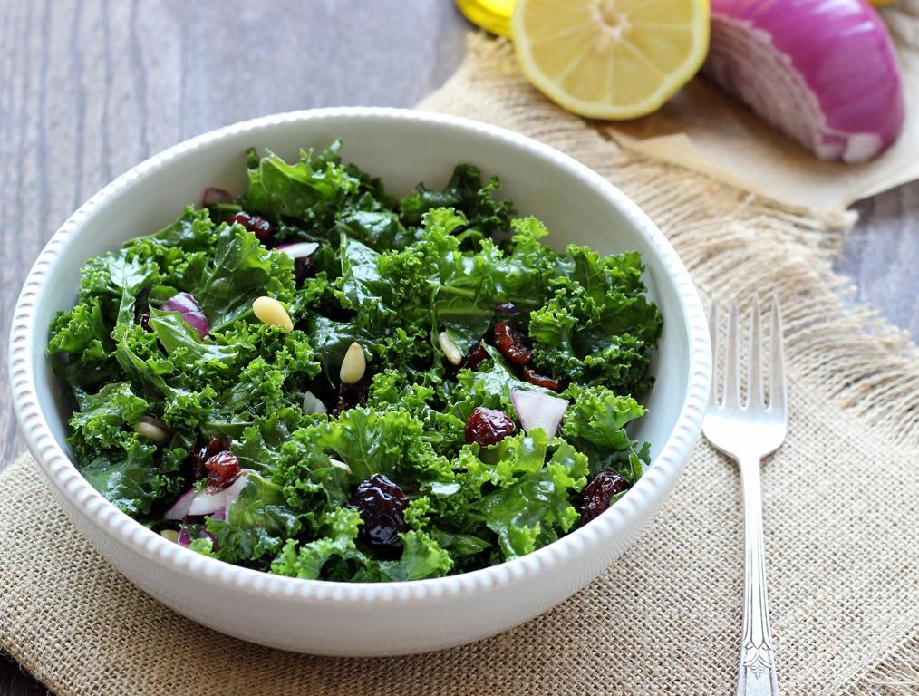 Detox Kale Salad with Lemon Apple Vinaigrette - Making Thyme for ...