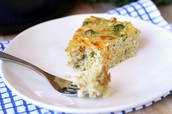 Roasted Broccoli & Corn Quinoa Frittata (103)
