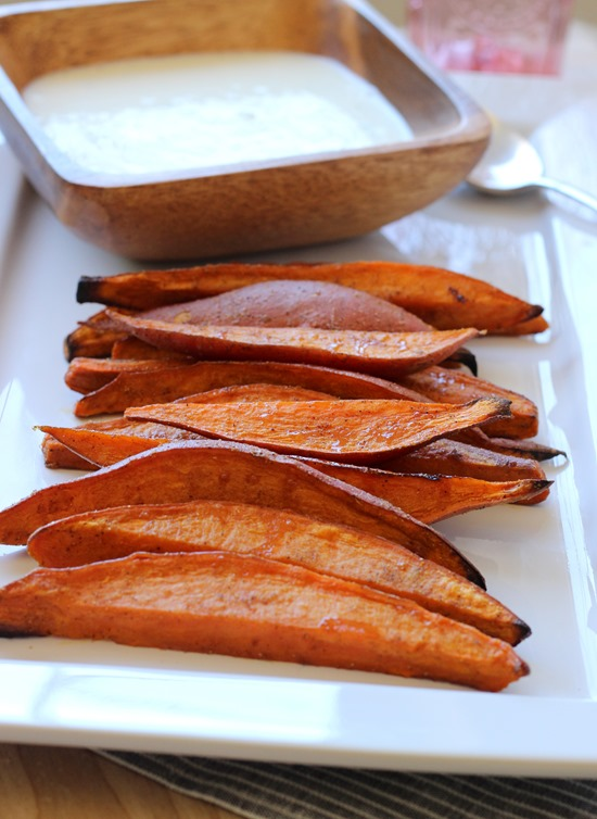 Sweet Potato Wedges with Lemongrass Yogurt Dip (69)