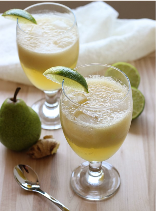 Ginger Pear Spritzers 5