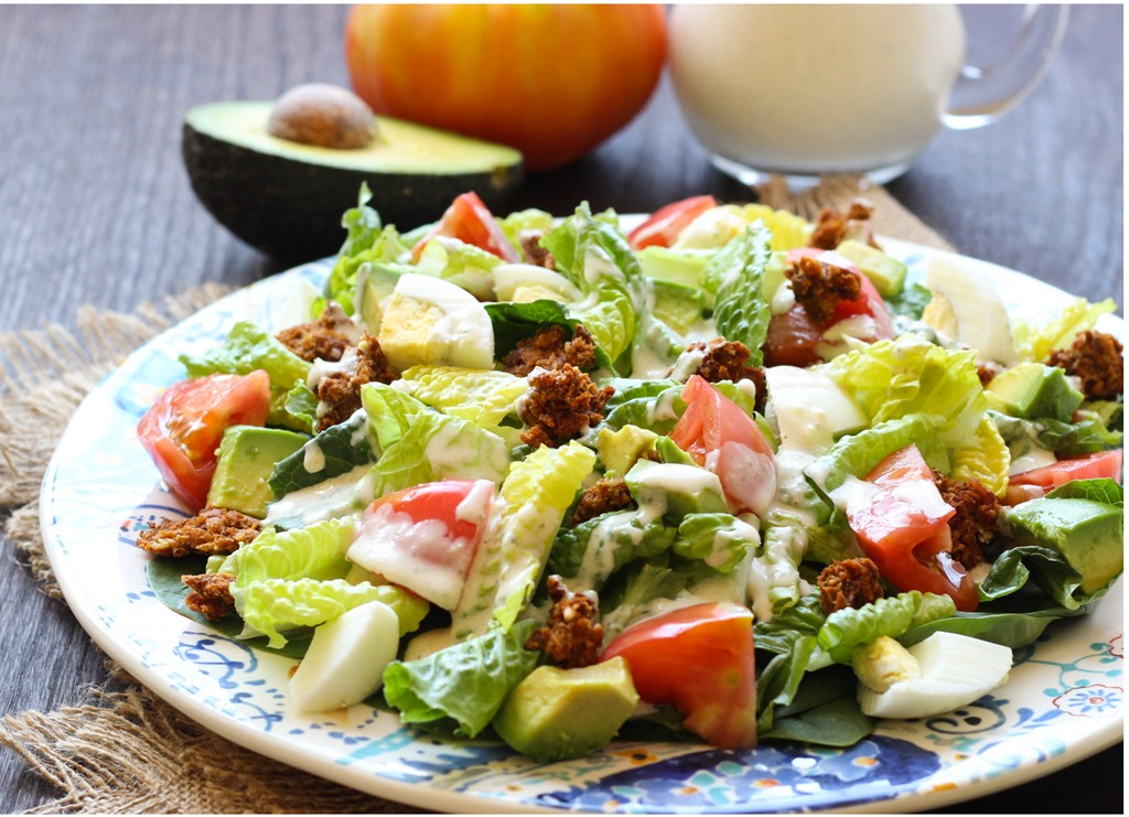 Healthy Cobb Salad With Yogurt Ranch Dressing Making Thyme For Health