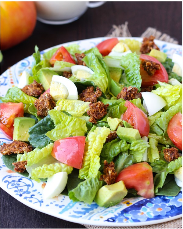 Healthy Cobb Salad with Yogurt Ranch Dressing 1