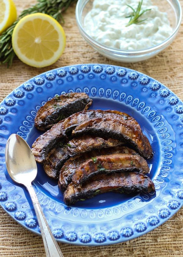 Grilled Portabella Mushrooms with Gorgonzola Aioli 4