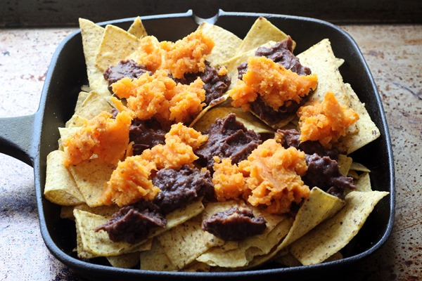 Loaded Black Bean Sweet Potato Nachos (72)