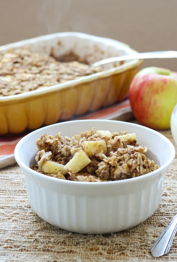 Vegan Baked Apple Cinnamon Oatmeal - Making Thyme for Health