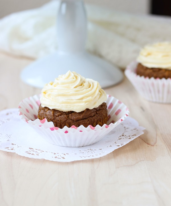 Sweet Potato Cupcakes {made with healthy quinoa flour. gluten-free.}
