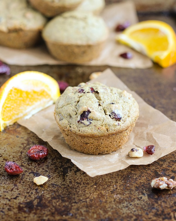 Cranberry Orange Muffins- so good that you'll never know they're vegan and gluten-free! www.makingthymeforhealth.com