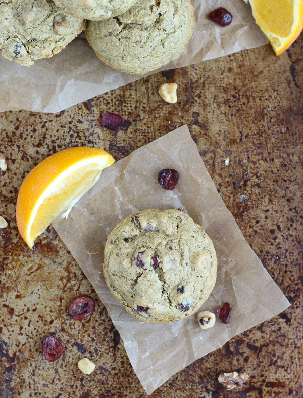 Cranberry Orange Muffins (gluten-free and vegan)