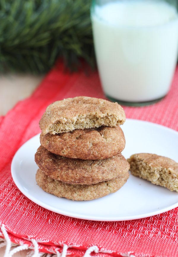 Skinny Snickerdoodles {vegan and gluten-free}