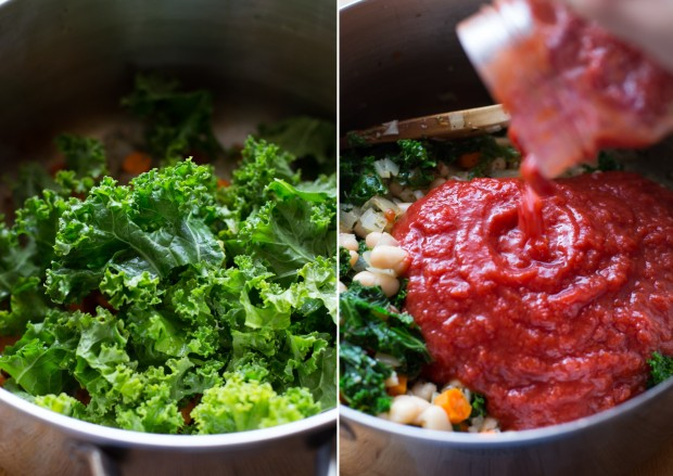 White Bean Kale & Tomato Soup