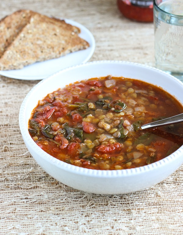Easy Lentil Spinach Soup