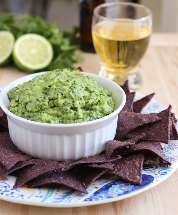 Guac-kale-mole | a classic guacamole recipe infused with superfood greens!
