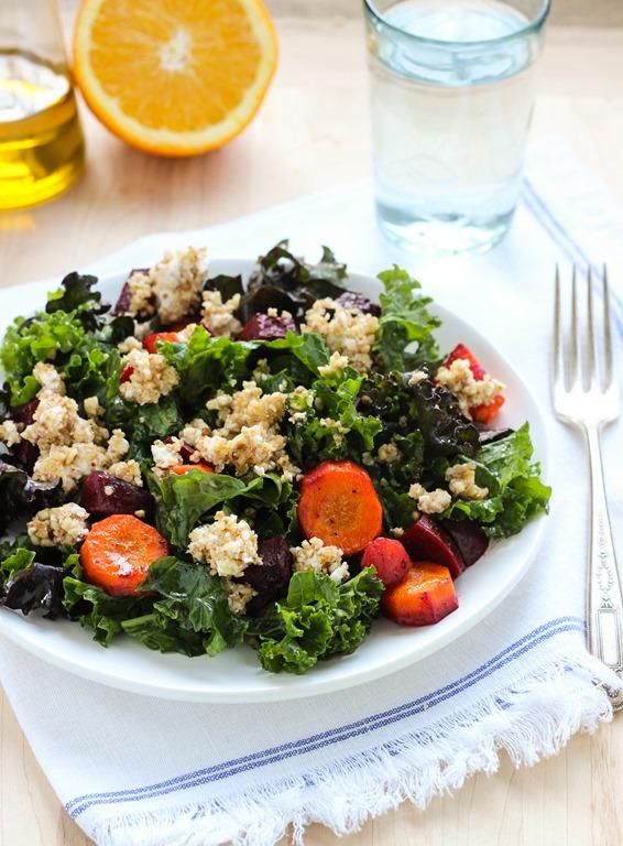 Winter Vegetable Salad with Orange Vinaigrette
