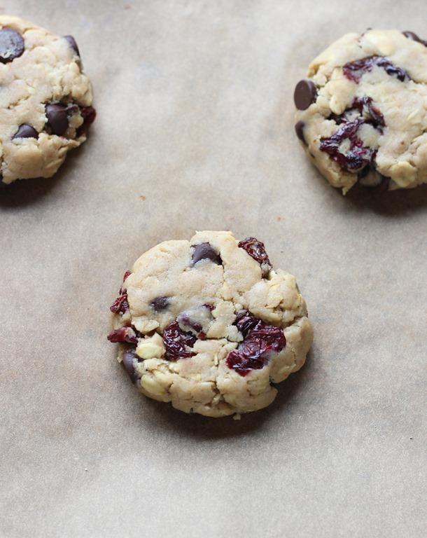 Dark Chocolate Cherry Oatmeal Cookies - Making Thyme for Health