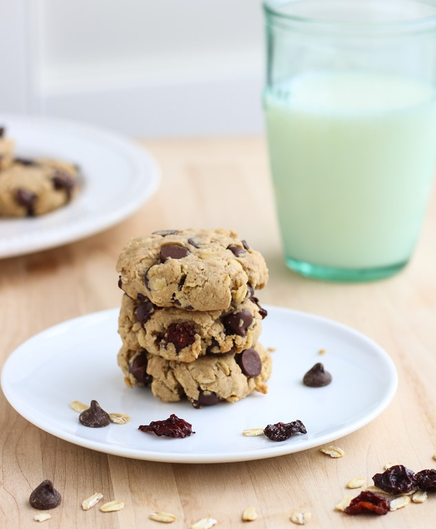 Dark Chocolate Cherry Oatmeal Cookies - Making Thyme for Health