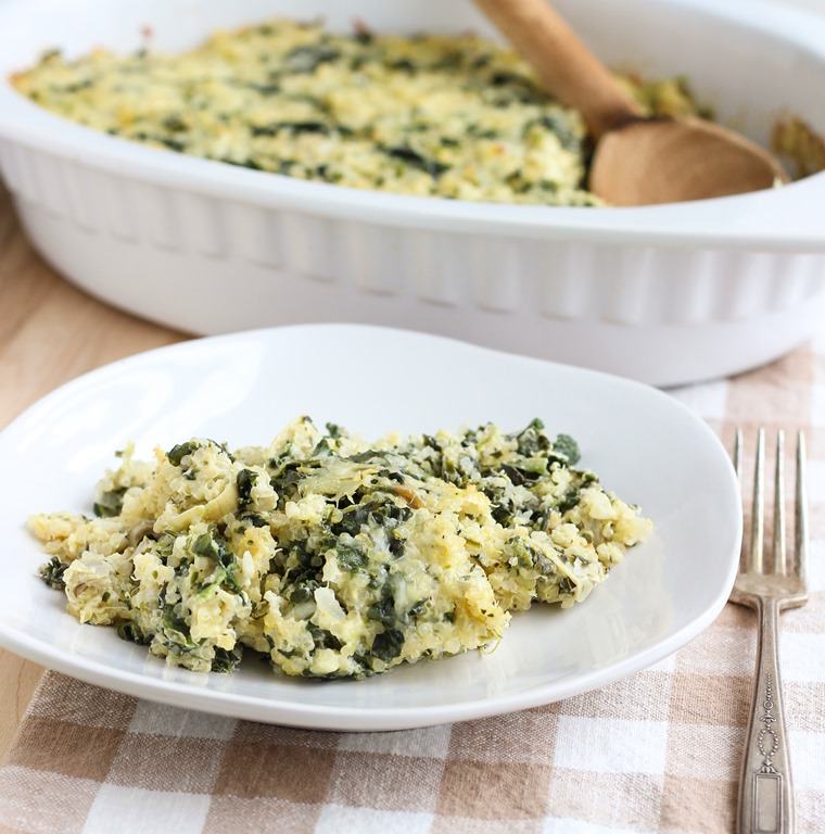 Spinach Artichoke Quinoa Casserole – Making Thyme for Health