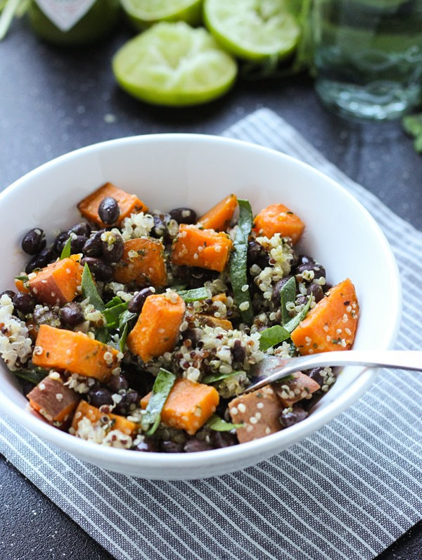 Sweet Potato Hemp Seed Quinoa Bowls