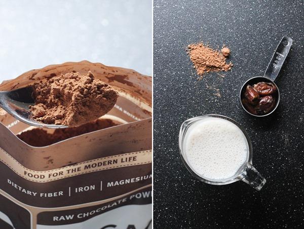 Vegan Raw Cacao Milkshakes