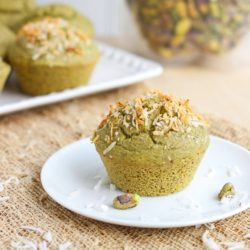 Secret Ingredient Pistachio Muffins