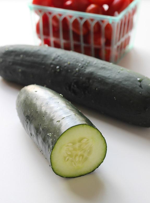 Cucumber Tomato Coleslaw {vegan}