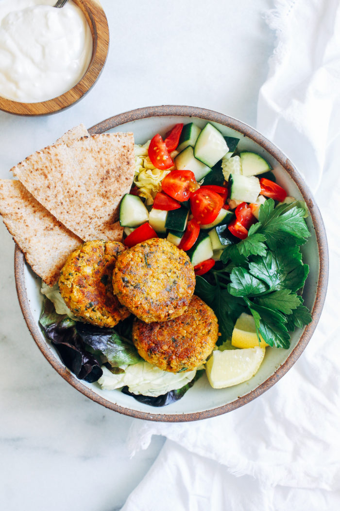 Gluten-free Falafel with Lemon Yogurt Sauce from Making Thyme for Health