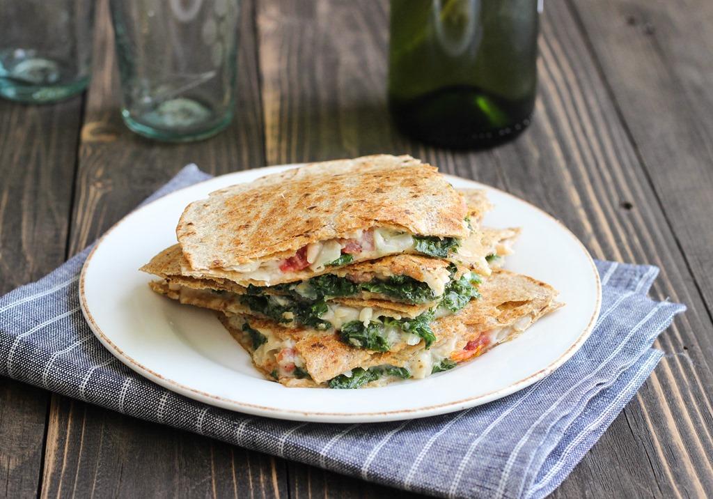 White Bean, Kale  Tomato QuesadillasMaking Thyme for Health