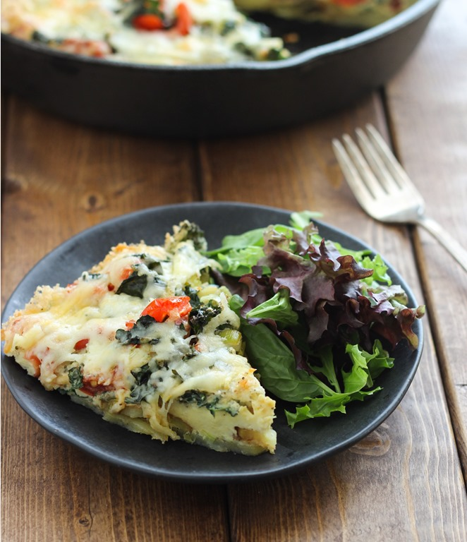 Potato And Vegetable Frittata Recipe — Dishmaps