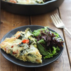 Potato Crusted Vegetable Frittata