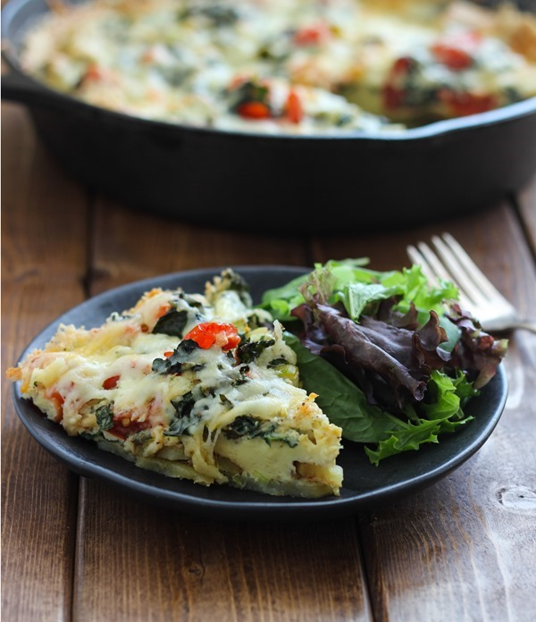 Potato Crusted Vegetable Frittata - Making Thyme for Health