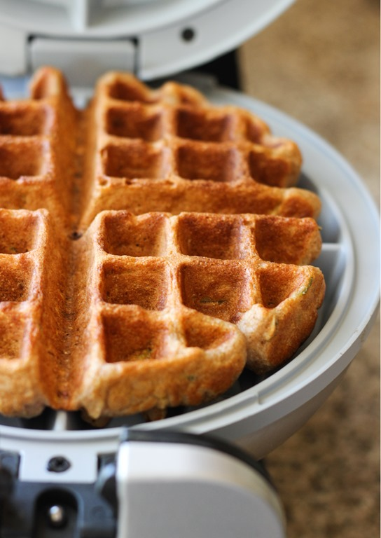 High-Protein Zucchini Waffles - Making Thyme for Health