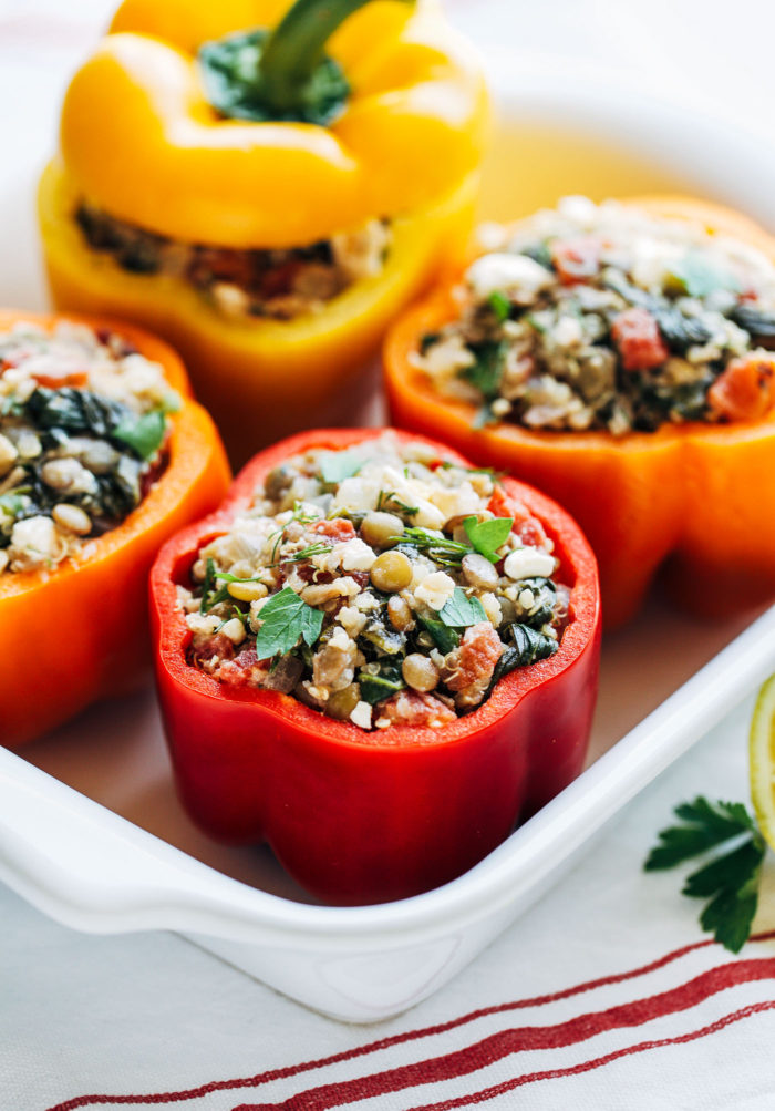 Mediterranean Quinoa Stuffed Peppers | Making Thyme for Health