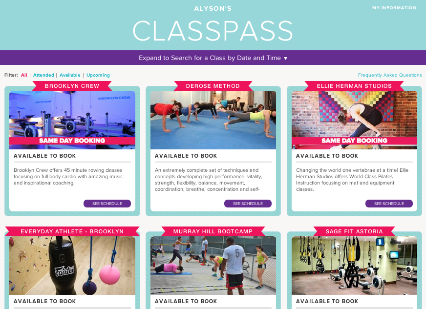 Not known Facts About Classpass Sf