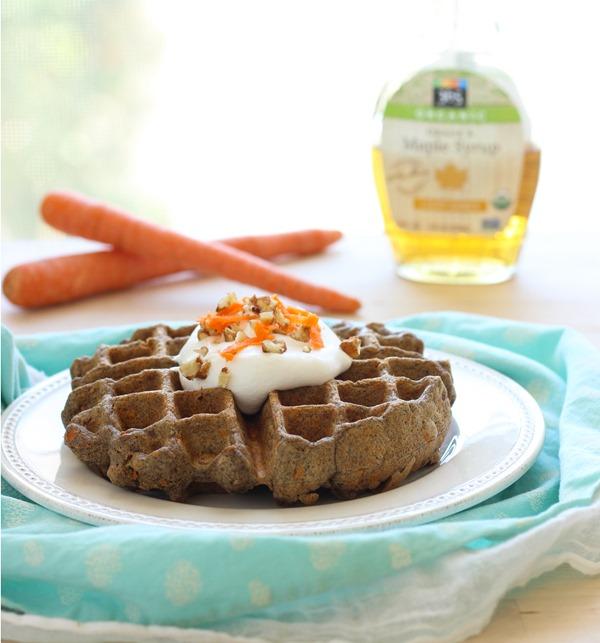 Carrot Cake Waffles #vegan #glutenfree | makingthymeforhealth.com