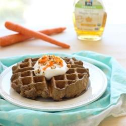 Carrot Cake Waffles