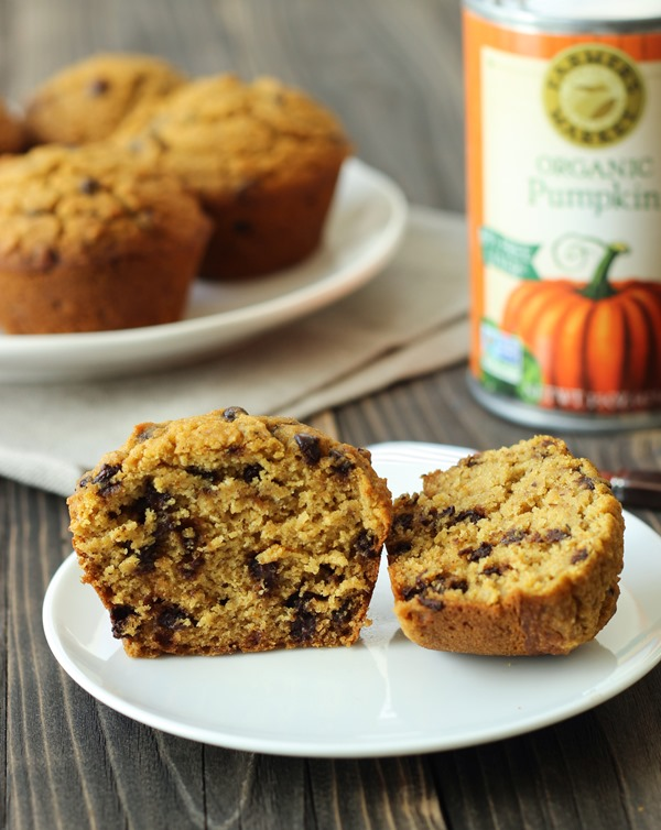 Healthy Chocolate Chip Pumpkin Muffins - Making Thyme for Health