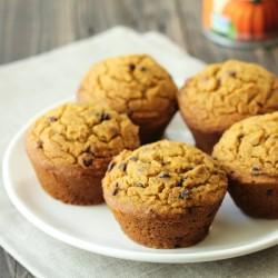 Healthy Chocolate Chip Pumpkin Muffins