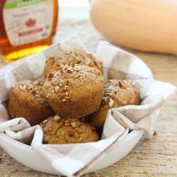 Spiced Maple Butternut Squash Muffins