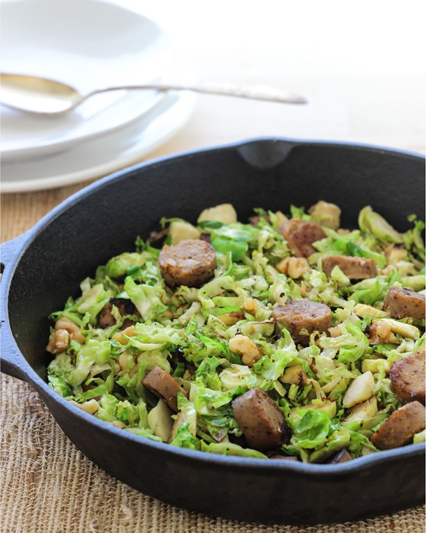 One Pan Brussel Sprout and Sausage Skillet