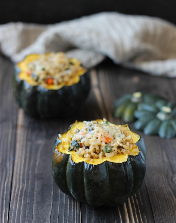 Baked Acorn Squash Bowls | Making Thyme for Health #glutenfree #vegetarian